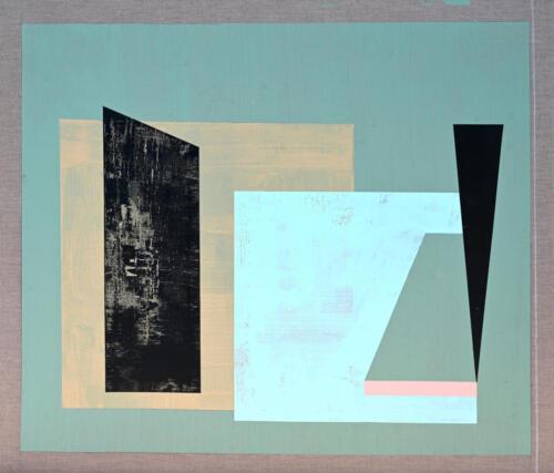 Composition 1.  Acrylic on linen 115x120 cm, 2020.