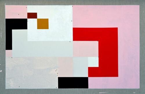 Lisa Acrylic on linen 87 x 133 cm 2020 .