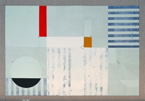 Stripcle B.R.O Acrylic on linen 89 x 127 cm 2020 .