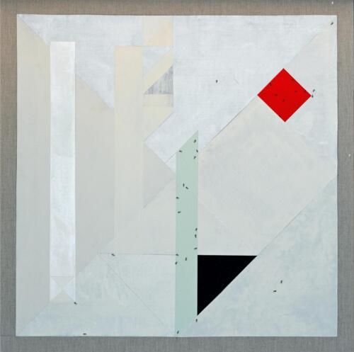 Tangram Acrylic on linen 111 x 111 cm 2020 .