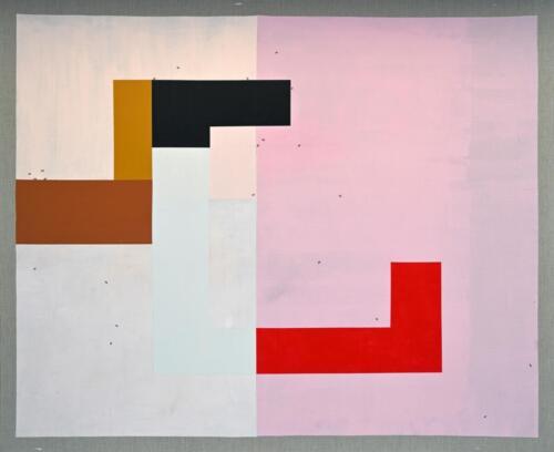 Urbahn-Pink Acrylic on linen 146 x 178 cm 2020 .
